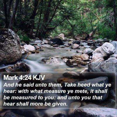 Mark 4:24 KJV Bible Verse Image