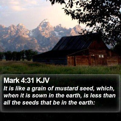 Mark 4:31 KJV Bible Verse Image