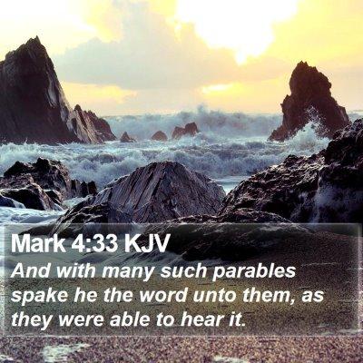 Mark 4:33 KJV Bible Verse Image
