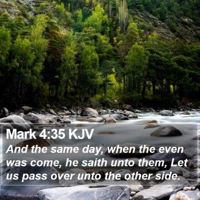Mark 4:35 KJV Bible Verse Image