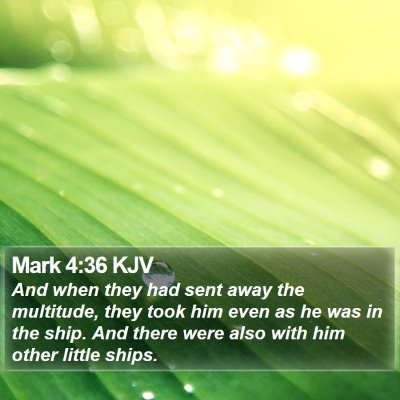 Mark 4:36 KJV Bible Verse Image