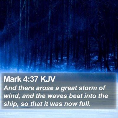 Mark 4:37 KJV Bible Verse Image