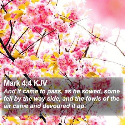 Mark 4:4 KJV Bible Verse Image