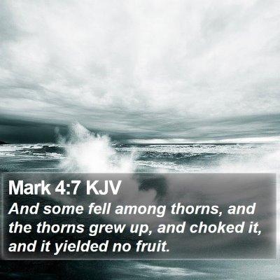 Mark 4:7 KJV Bible Verse Image