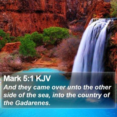 Mark 5:1 KJV Bible Verse Image