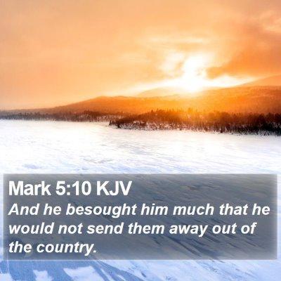 Mark 5:10 KJV Bible Verse Image