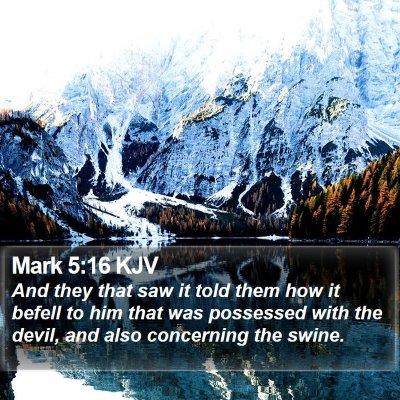 Mark 5:16 KJV Bible Verse Image