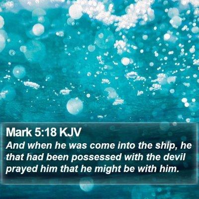 Mark 5:18 KJV Bible Verse Image