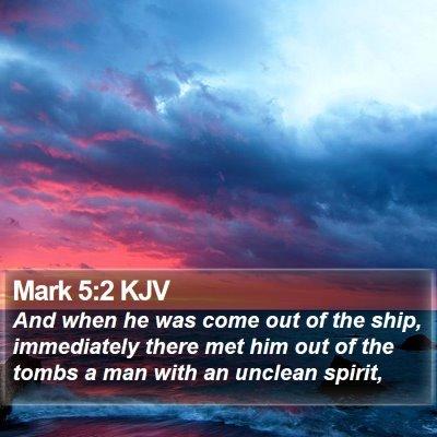 Mark 5:2 KJV Bible Verse Image