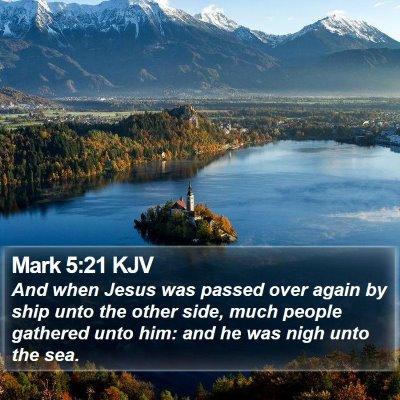 Mark 5:21 KJV Bible Verse Image