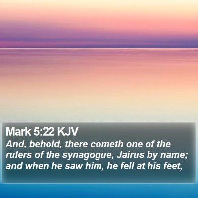 Mark 5:22 KJV Bible Verse Image