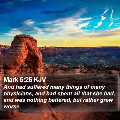 Mark 5:26 KJV Bible Verse Image