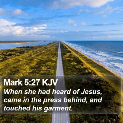 Mark 5:27 KJV Bible Verse Image