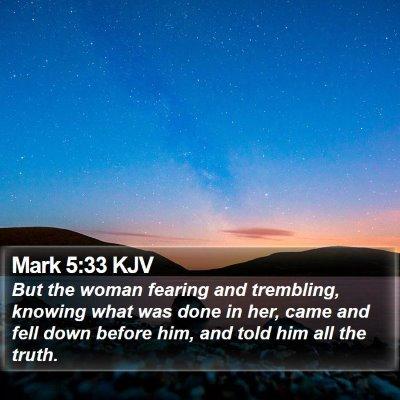 Mark 5:33 KJV Bible Verse Image
