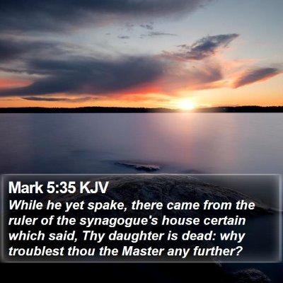 Mark 5:35 KJV Bible Verse Image
