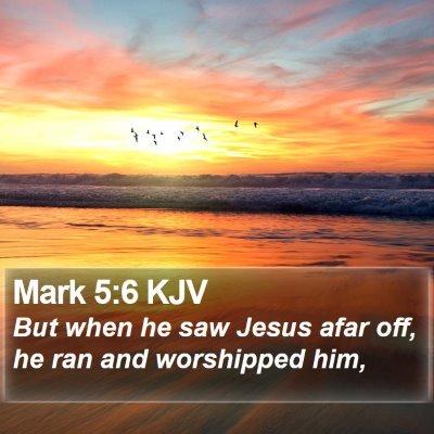 Mark 5:6 KJV Bible Verse Image