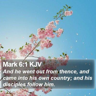 Mark 6:1 KJV Bible Verse Image