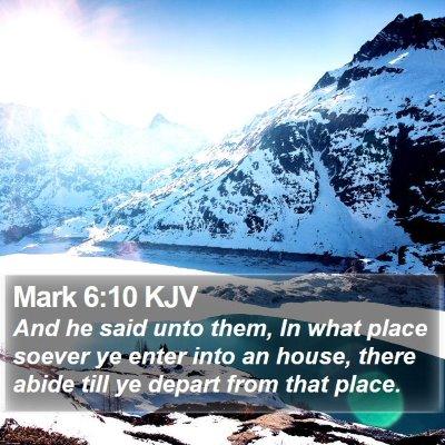 Mark 6:10 KJV Bible Verse Image