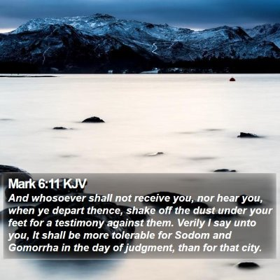 Mark 6:11 KJV Bible Verse Image