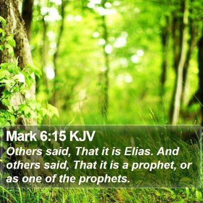 Mark 6:15 KJV Bible Verse Image