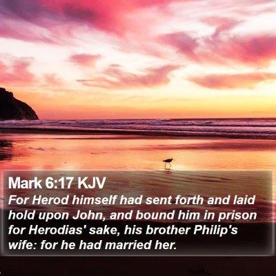 Mark 6:17 KJV Bible Verse Image