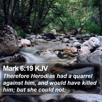 Mark 6:19 KJV Bible Verse Image