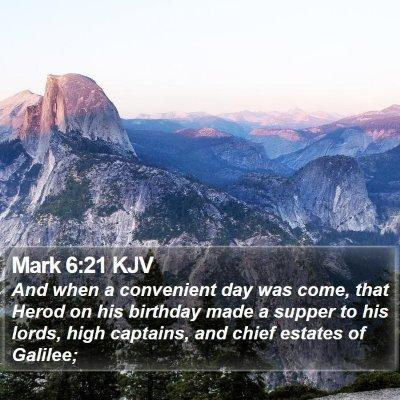 Mark 6:21 KJV Bible Verse Image