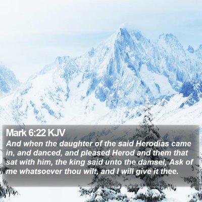 Mark 6:22 KJV Bible Verse Image