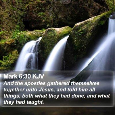 Mark 6:30 KJV Bible Verse Image