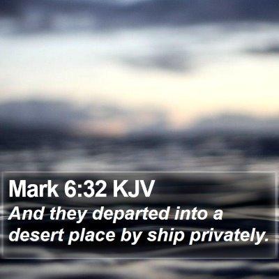 Mark 6:32 KJV Bible Verse Image