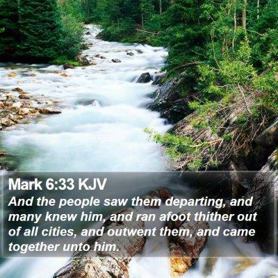 Mark 6:33 KJV Bible Verse Image