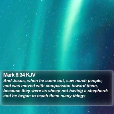 Mark 6:34 KJV Bible Verse Image