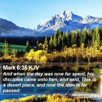 Mark 6:35 KJV Bible Verse Image