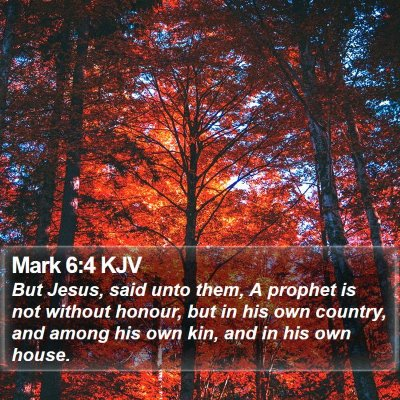 Mark 6:4 KJV Bible Verse Image