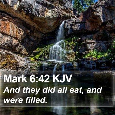 Mark 6:42 KJV Bible Verse Image