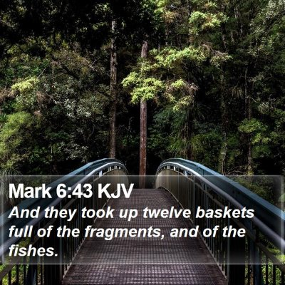 Mark 6:43 KJV Bible Verse Image