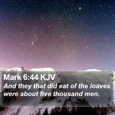 Mark 6:44 KJV Bible Verse Image