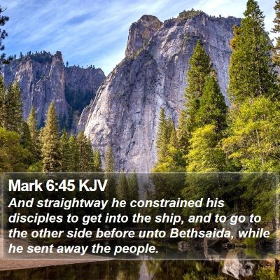 Mark 6:45 KJV Bible Verse Image