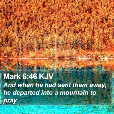 Mark 6:46 KJV Bible Verse Image