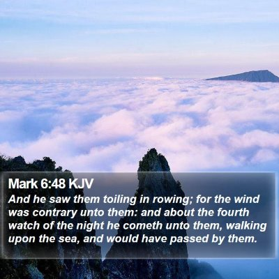 Mark 6:48 KJV Bible Verse Image