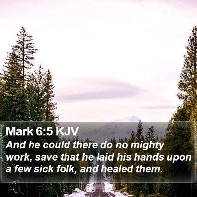 Mark 6:5 KJV Bible Verse Image