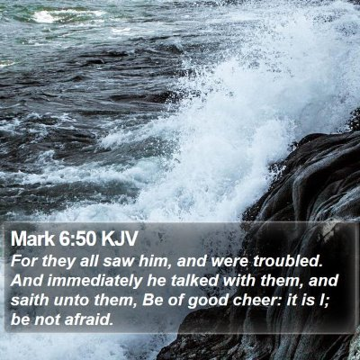 Mark 6:50 KJV Bible Verse Image