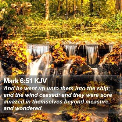 Mark 6:51 KJV Bible Verse Image