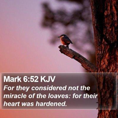 Mark 6:52 KJV Bible Verse Image