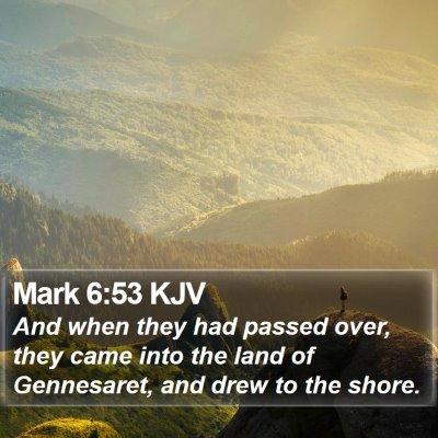 Mark 6:53 KJV Bible Verse Image