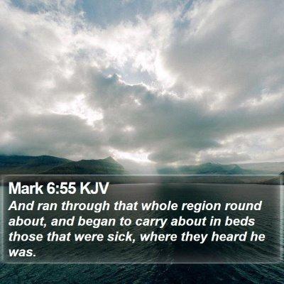 Mark 6:55 KJV Bible Verse Image