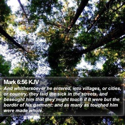 Mark 6:56 KJV Bible Verse Image