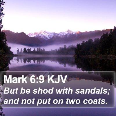Mark 6:9 KJV Bible Verse Image