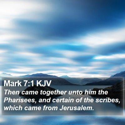 Mark 7:1 KJV Bible Verse Image