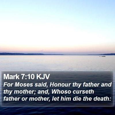 Mark 7:10 KJV Bible Verse Image